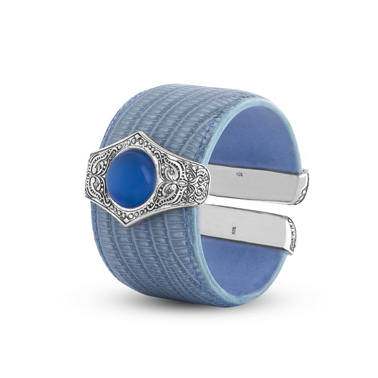 Light Blue w/Blue Stone